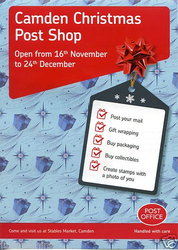 2012 GB - Post & Go Camden Xmas Post Shop Flyer